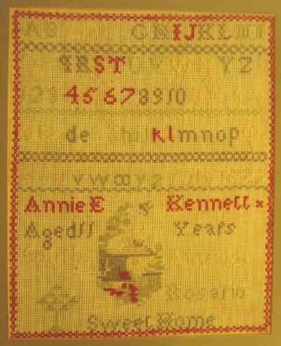 sampler made by Annie Kennett